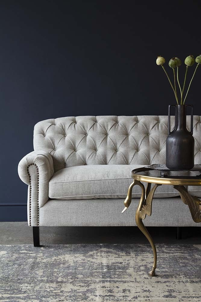 Soft Grey Modern Chesterfield Sofa | Rockett St George Pertaining To Chesterfield Sofas (View 13 of 15)