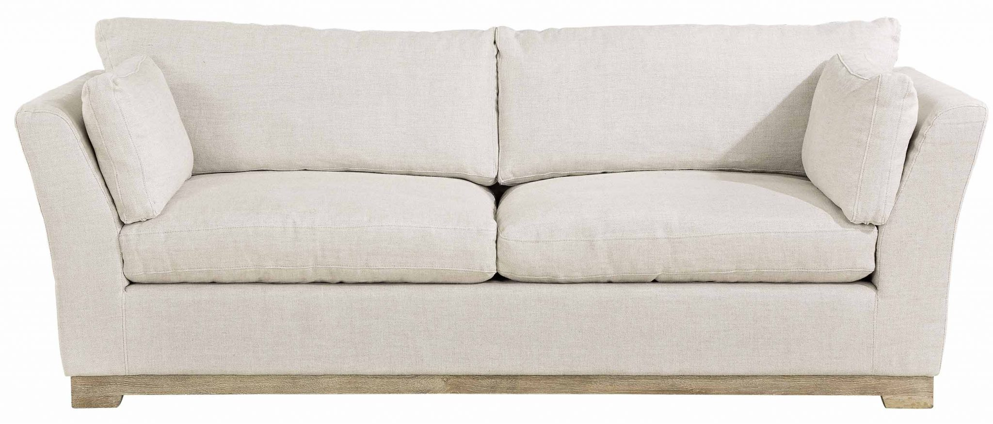 Soho 3 Seater Sofa – Linensand   Artwood Pertaining To Cromwell Modular Sectional Sofas (View 3 of 15)