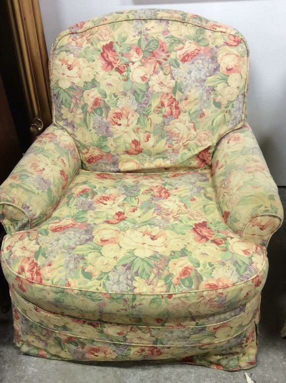 Sold Price: Pair Floral Chintz Upholstered Swivel Club With Chintz Sofas And Chairs (View 10 of 15)