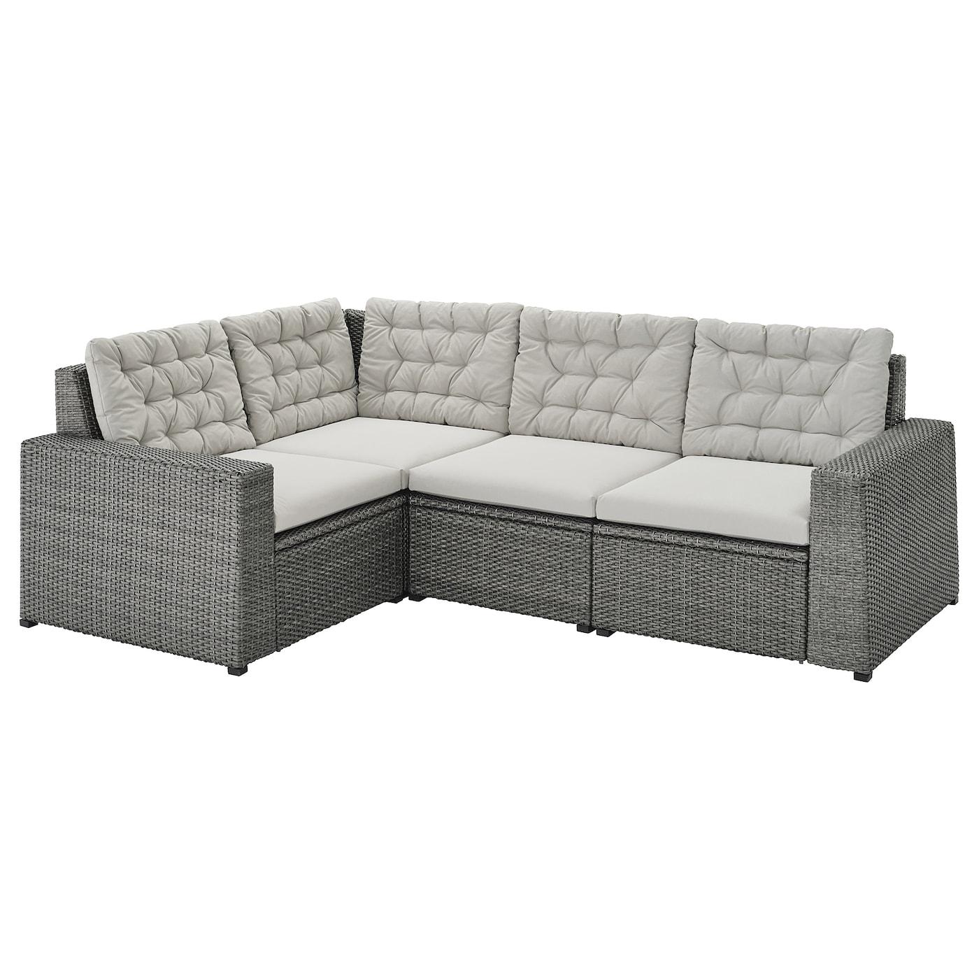 Sollerön Modular Corner Sofa 3 Seat, Outdoor – Dark Grey With Modular Corner Sofas (View 2 of 15)