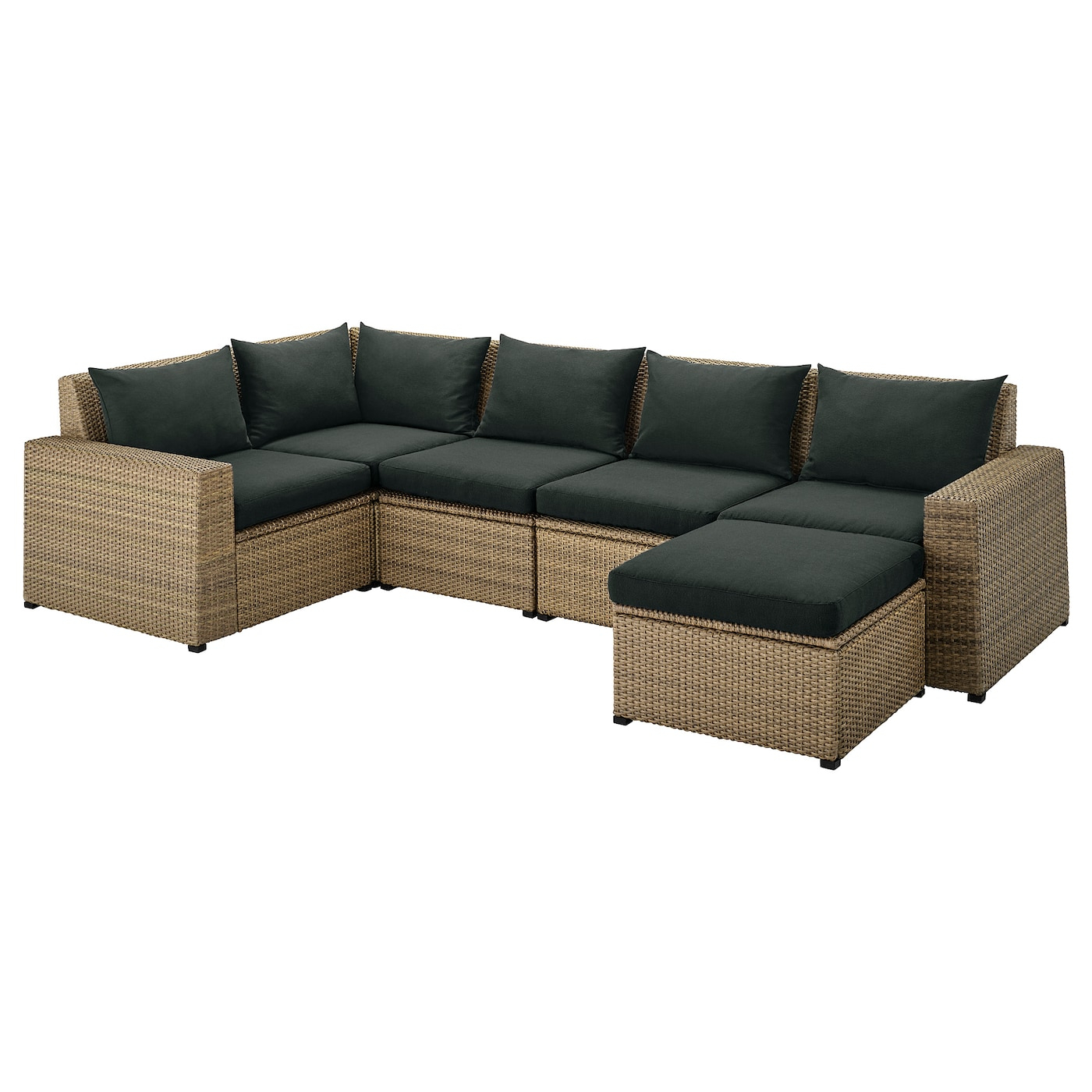 Sollerön Modular Corner Sofa 4 Seat, Outdoor – Brown With In Modular Corner Sofas (View 7 of 15)