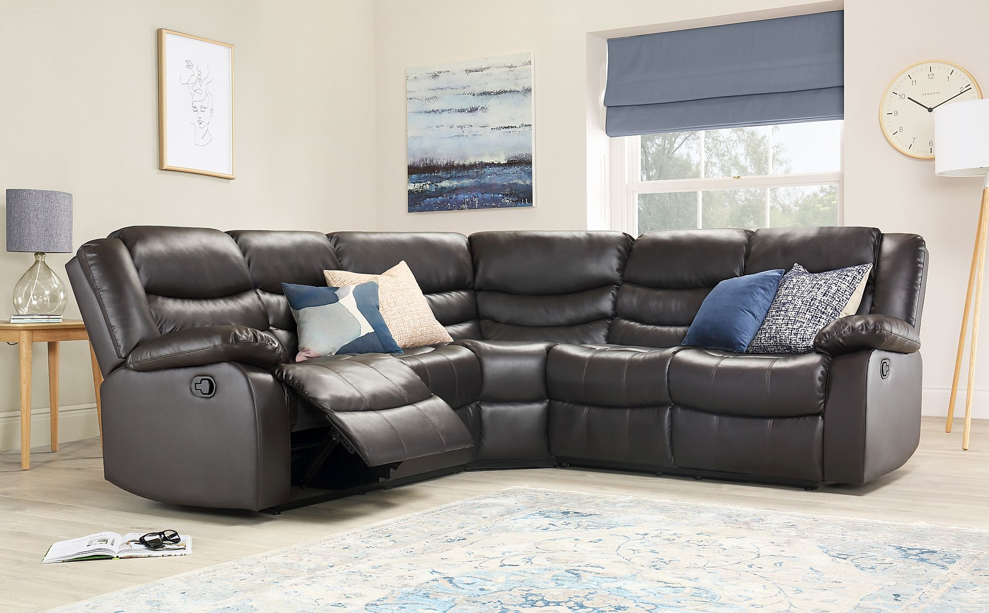 Sorrento Brown Leather Recliner Corner Sofa   Furniture Choice Inside Leather Corner Sofas (View 5 of 15)