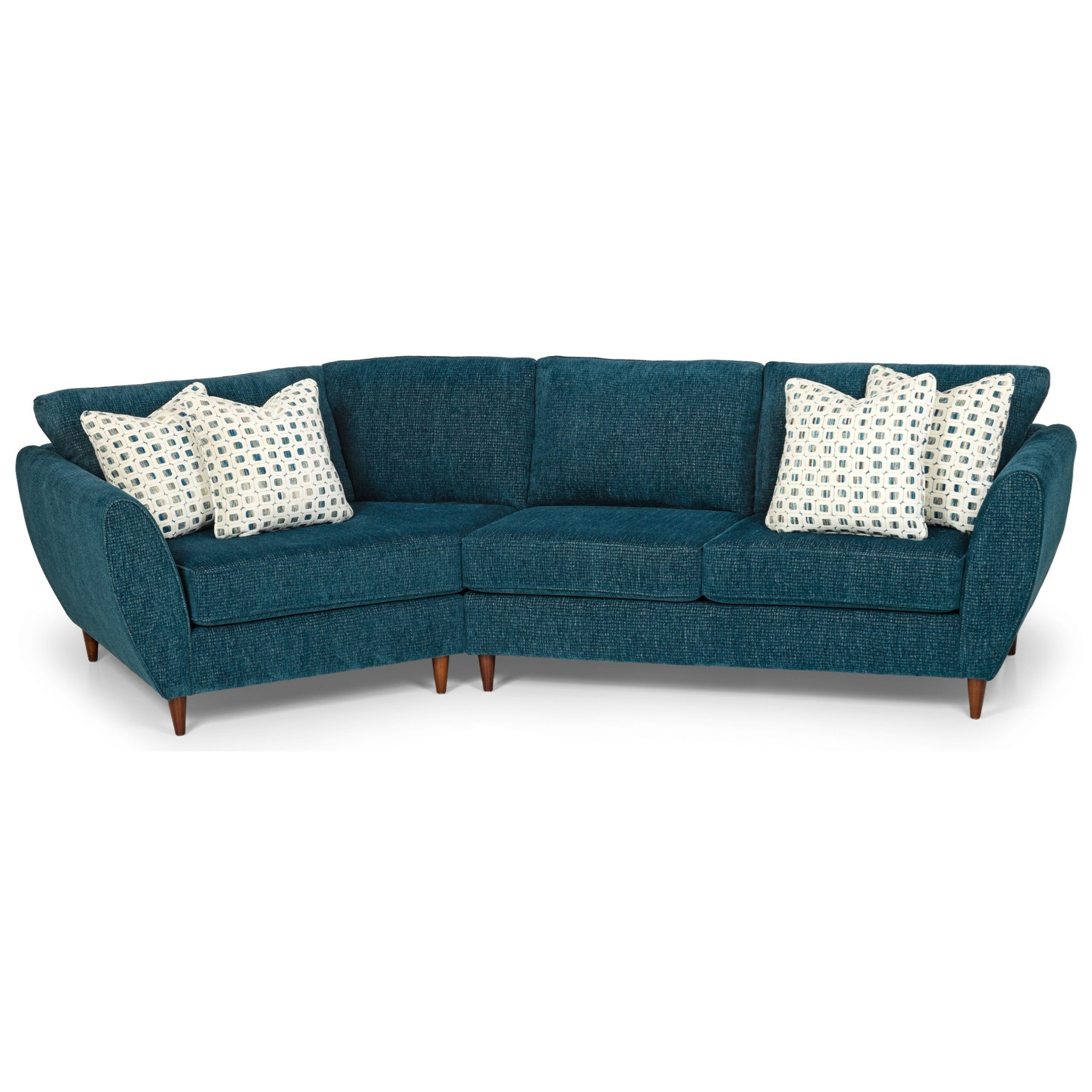 Stanton 473 Mid Century Modern 2 Piece Sectional Sofa With Within Florence Mid Century Modern Left Sectional Sofas (View 2 of 15)