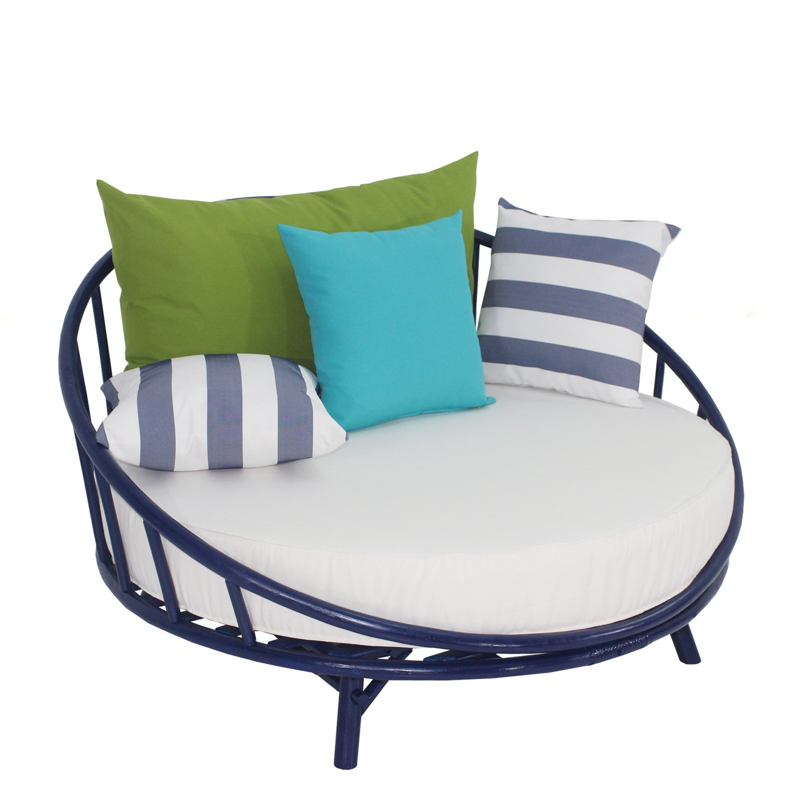Statra Bamboo Round Accent Sofa Chair With Cushion And Throughout Circular Sofa Chairs (View 7 of 15)
