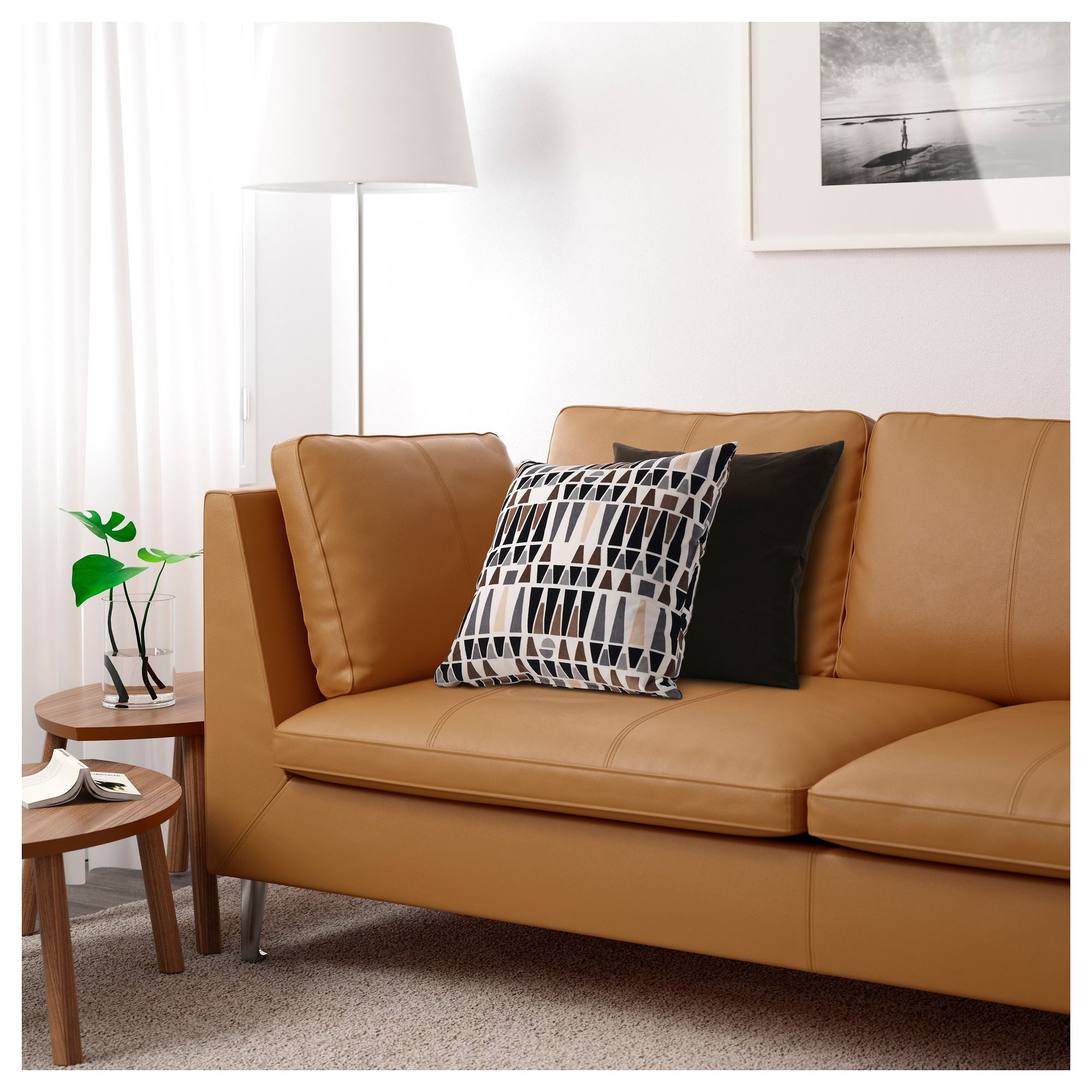 Stockholm, 3 Seat Leather Sofa, Seglora Natural Regarding 3 Seater Leather Sofas (View 7 of 15)