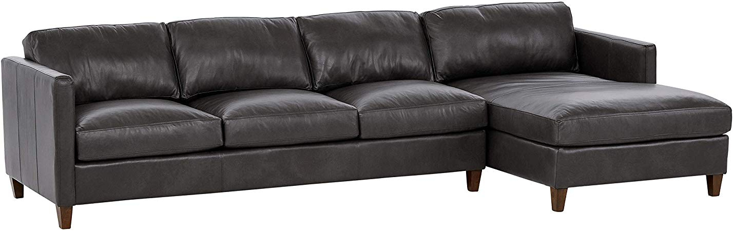 """Stone Beam Andover Right Facing Sofa Chaise Sectional, """"W For Dulce Right Sectional Sofas Twill Stone (View 6 of 15)"""