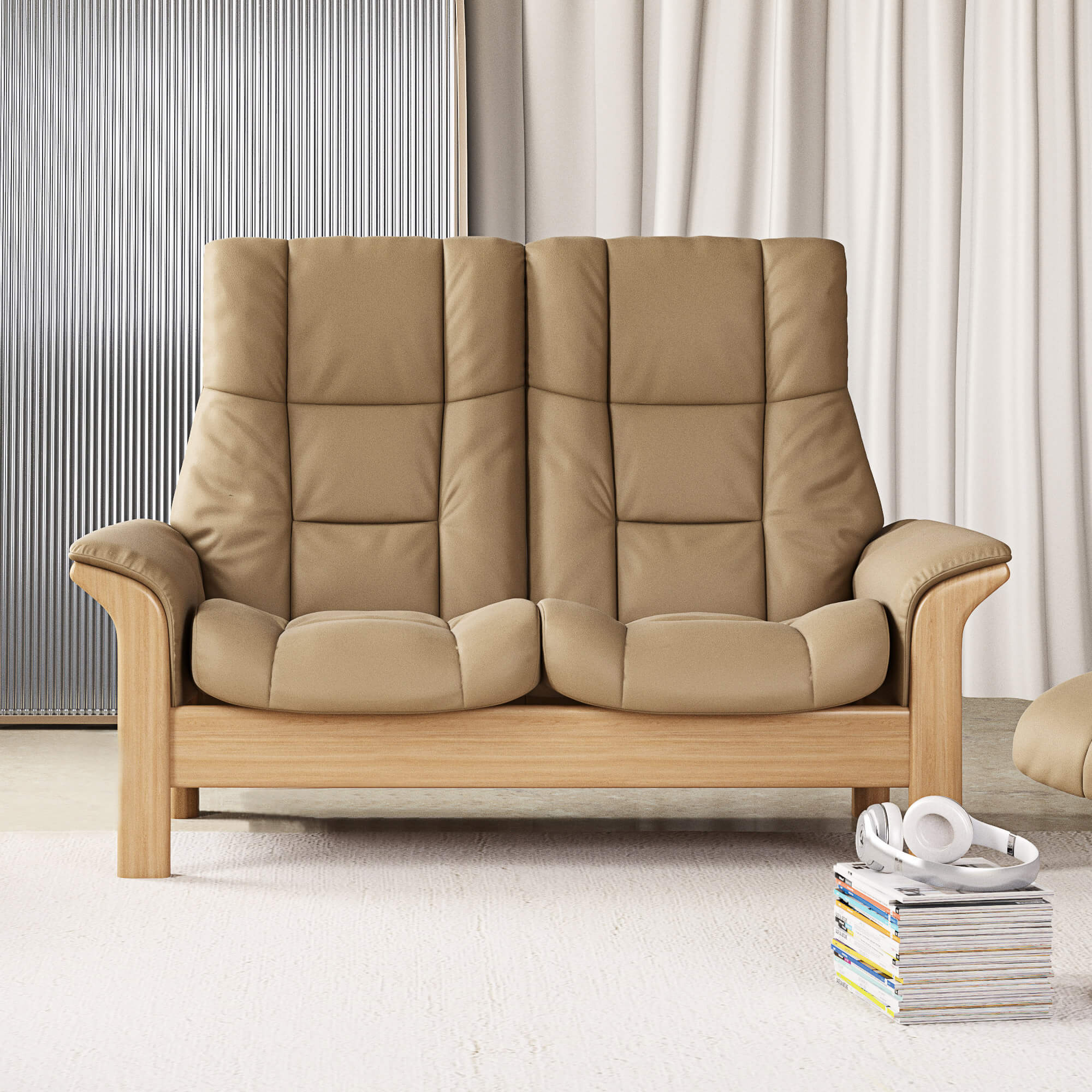 Stressless Windsor 2 Seater High Back Recliner Sofa In With High Back Sofas And Chairs (View 15 of 15)