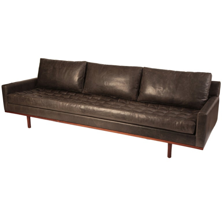 Stunning Down Filled Leather And Teak Sofa At 1Stdibs In Down Filled Sofas (View 13 of 15)
