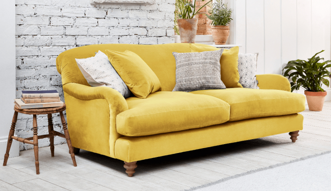 Summer Season With A Yellow Sofa | Darlings Of Chelsea For Yellow Sofa Chairs (View 8 of 15)