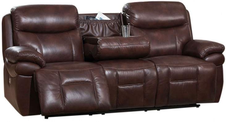 Summerlands Ii Brown Adjustable Headrest Power Reclining With Expedition Brown Power Reclining Sofas (View 12 of 15)