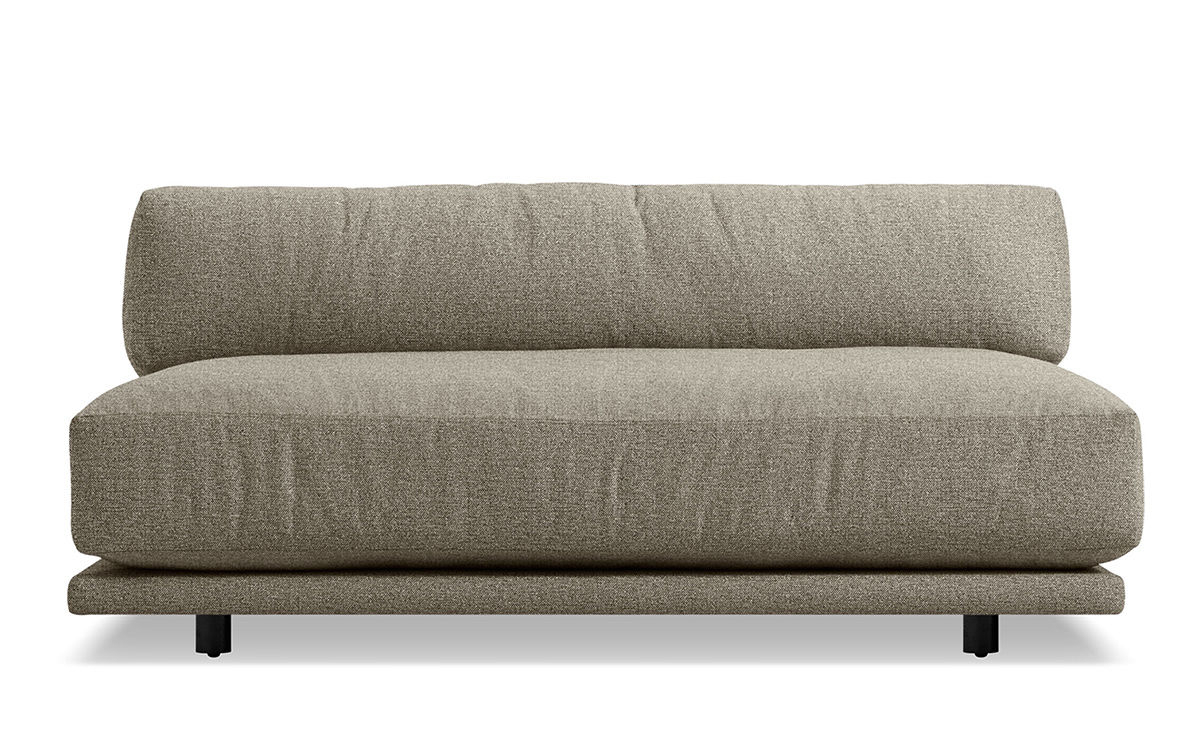 Sunday Armless Sofa – Hivemodern Pertaining To Armless Sectional Sofas (View 6 of 15)