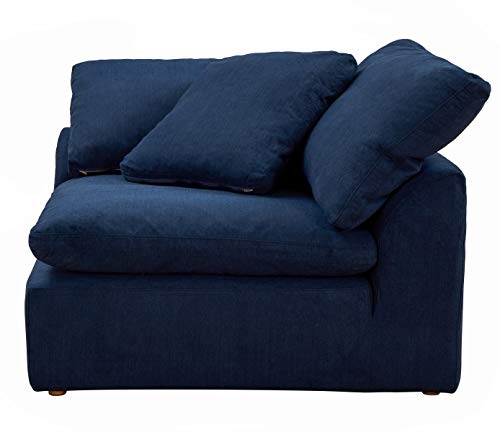 Sunset Trading Cloud Puff Sectional, 4 Piece Slipcovered L For Dream Navy 3 Piece Modular Sofas (View 7 of 15)