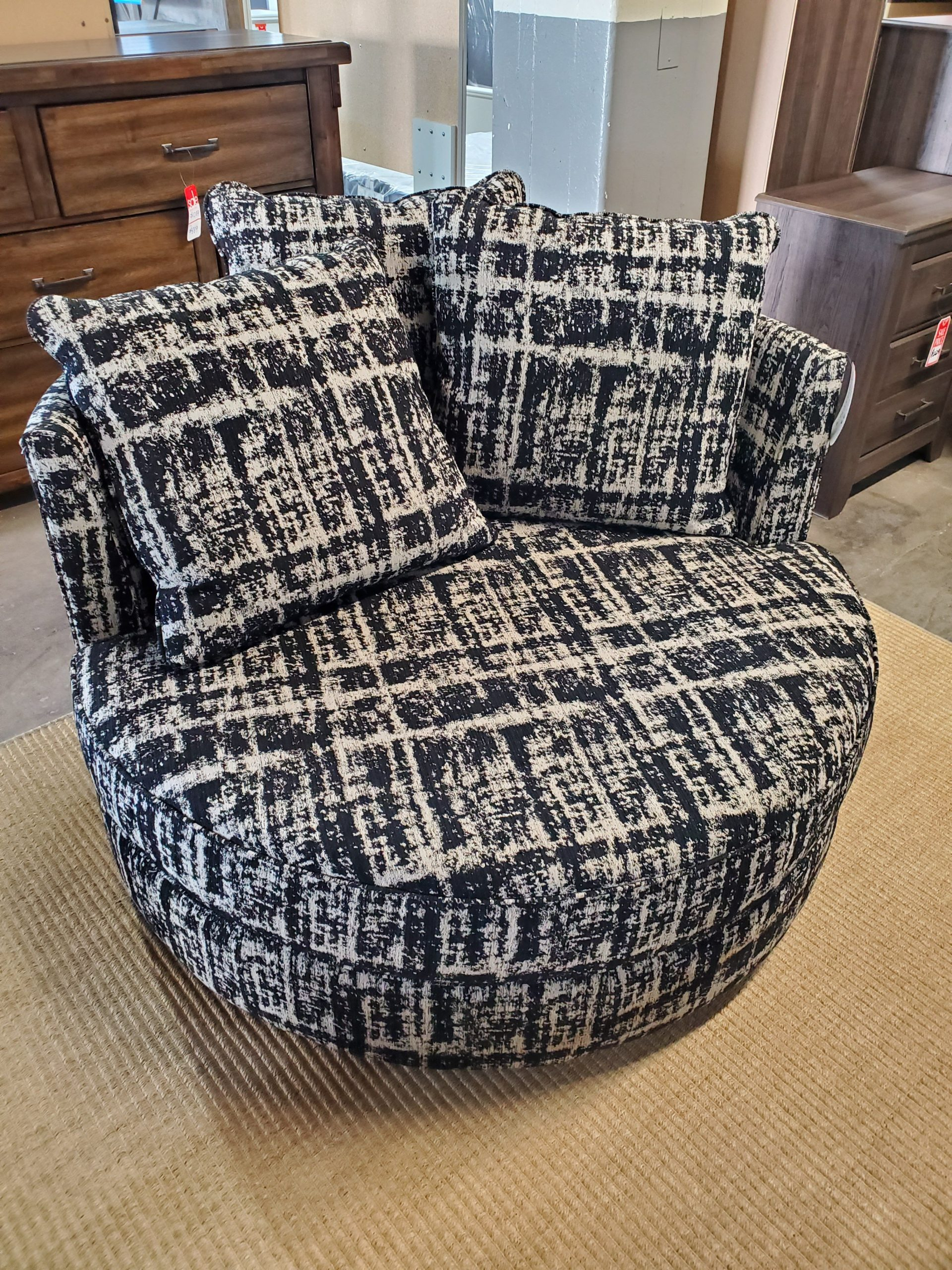 Swivel Cuddler Chair Accent Chairs, Accents, Furniture Pertaining To Cuddler Swivel Sofa Chairs (View 9 of 15)