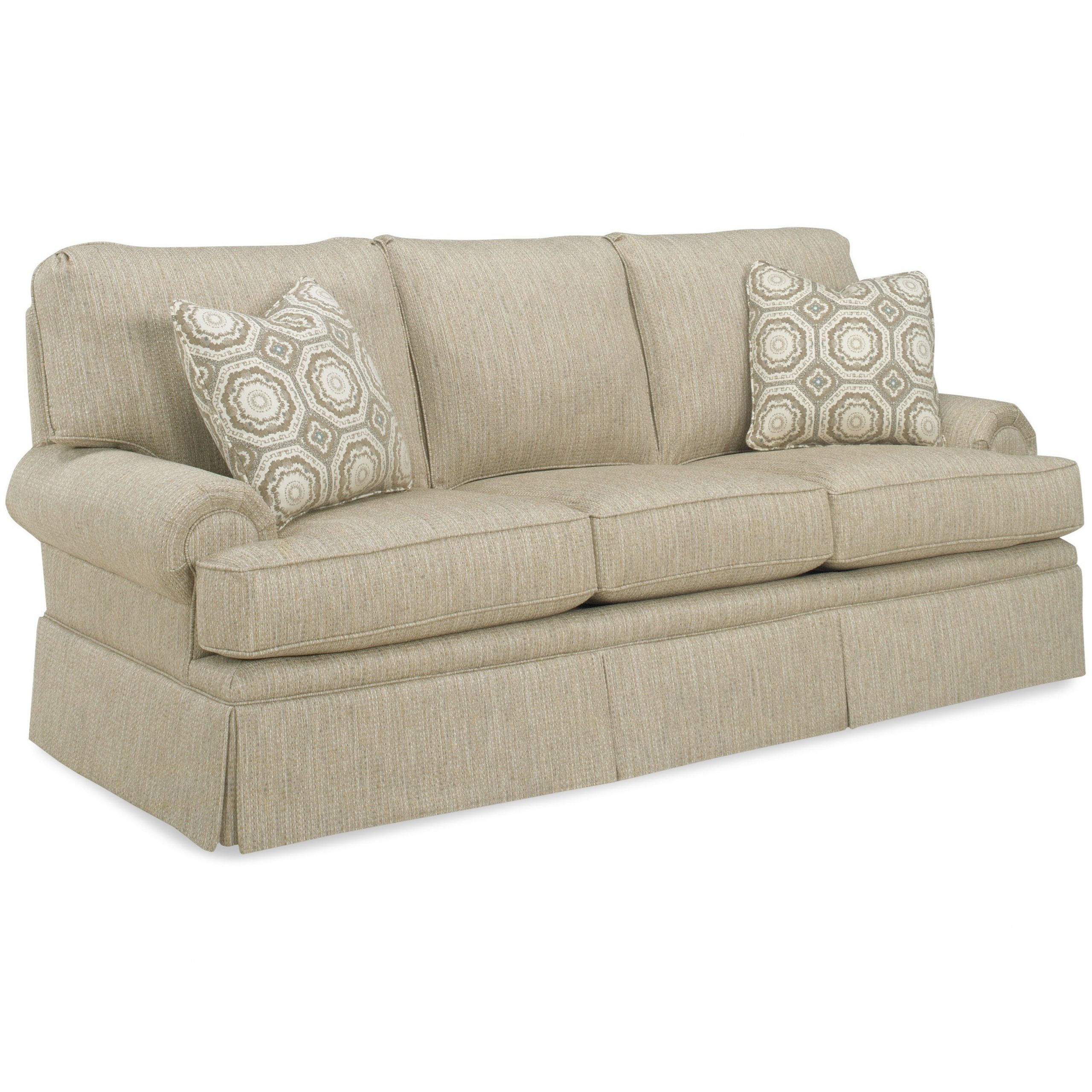 Temple Furniture Winston Sofa With Skirt | Mueller Pertaining To Winston Sofa Sectional Sofas (View 5 of 15)