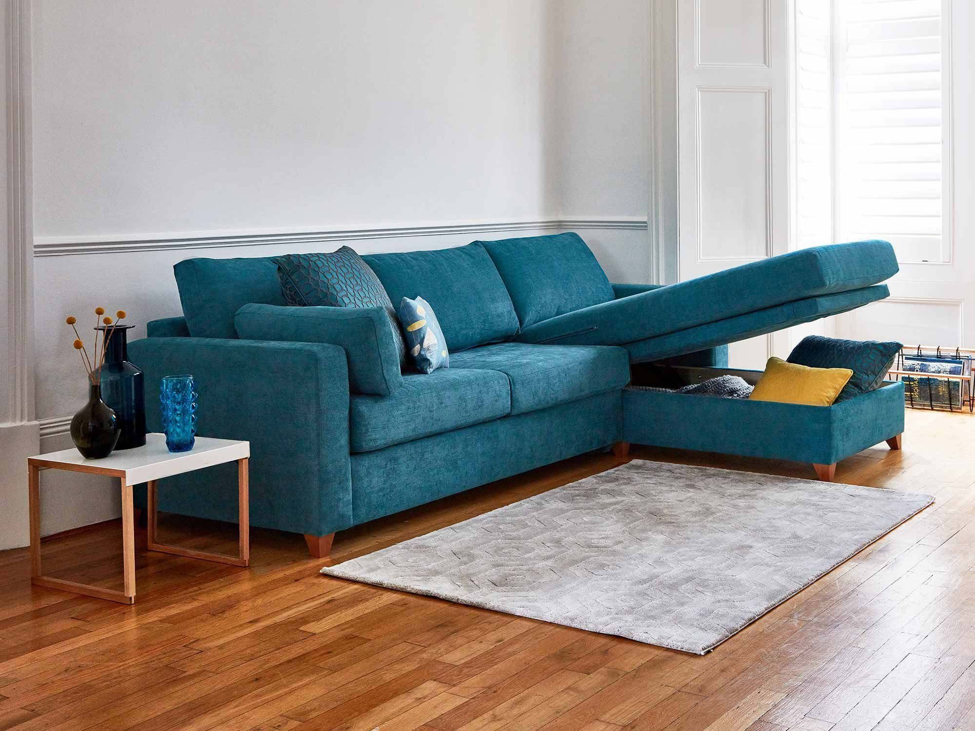 The Ashwell Chaise Storage Sofa Bed   Sofa Bed, Sofa, Sofa With Hadley Small Space Sectional Futon Sofas (View 13 of 15)