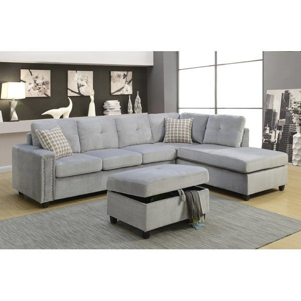 The Belville Sectional Sofa Features Reversible Chaise Throughout Clifton Reversible Sectional Sofas With Pillows (View 12 of 15)