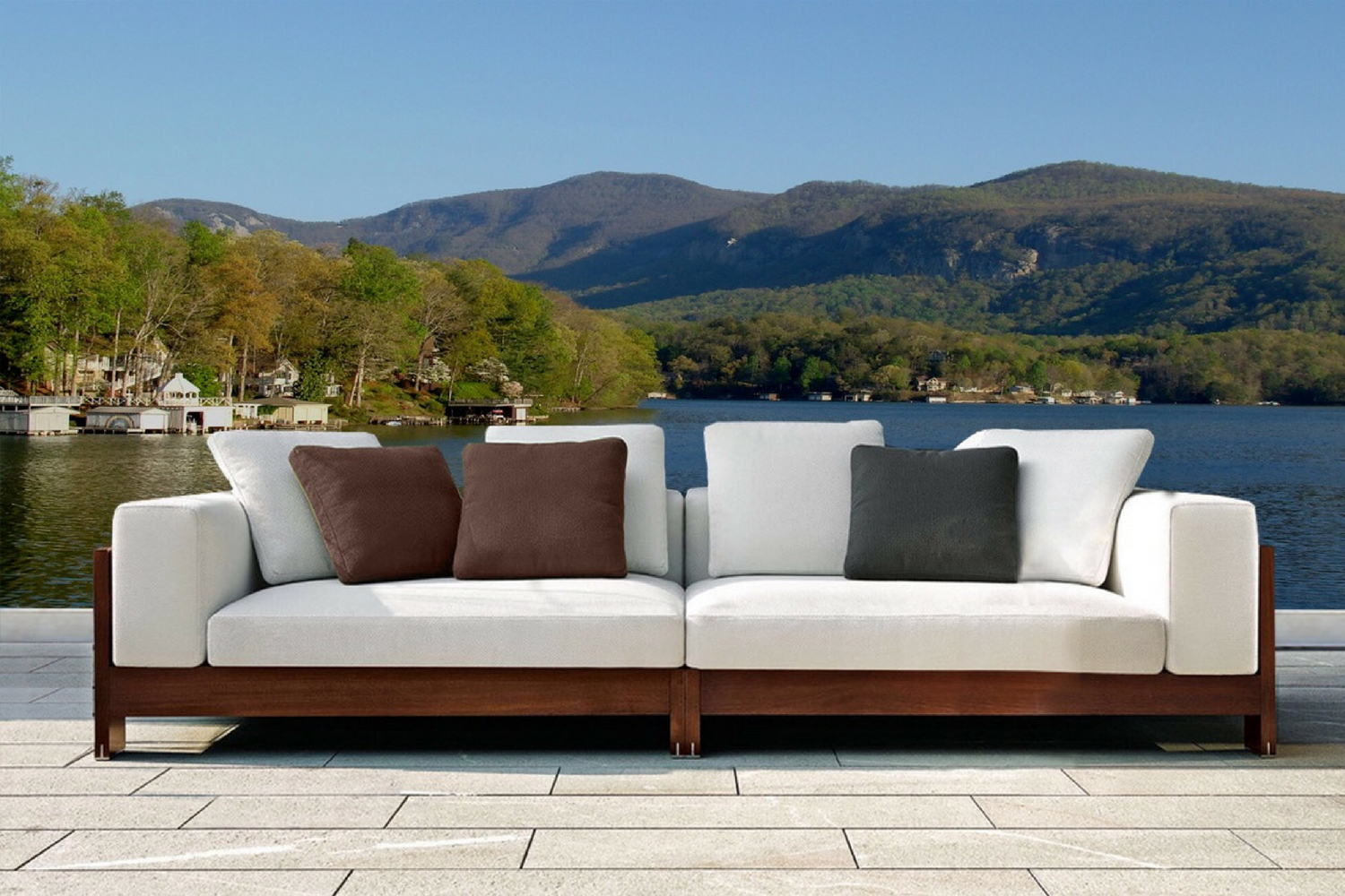 The Naxos Four Seater Outdoor Sofa | Hadley Rose For Four Seater Sofas (View 8 of 15)