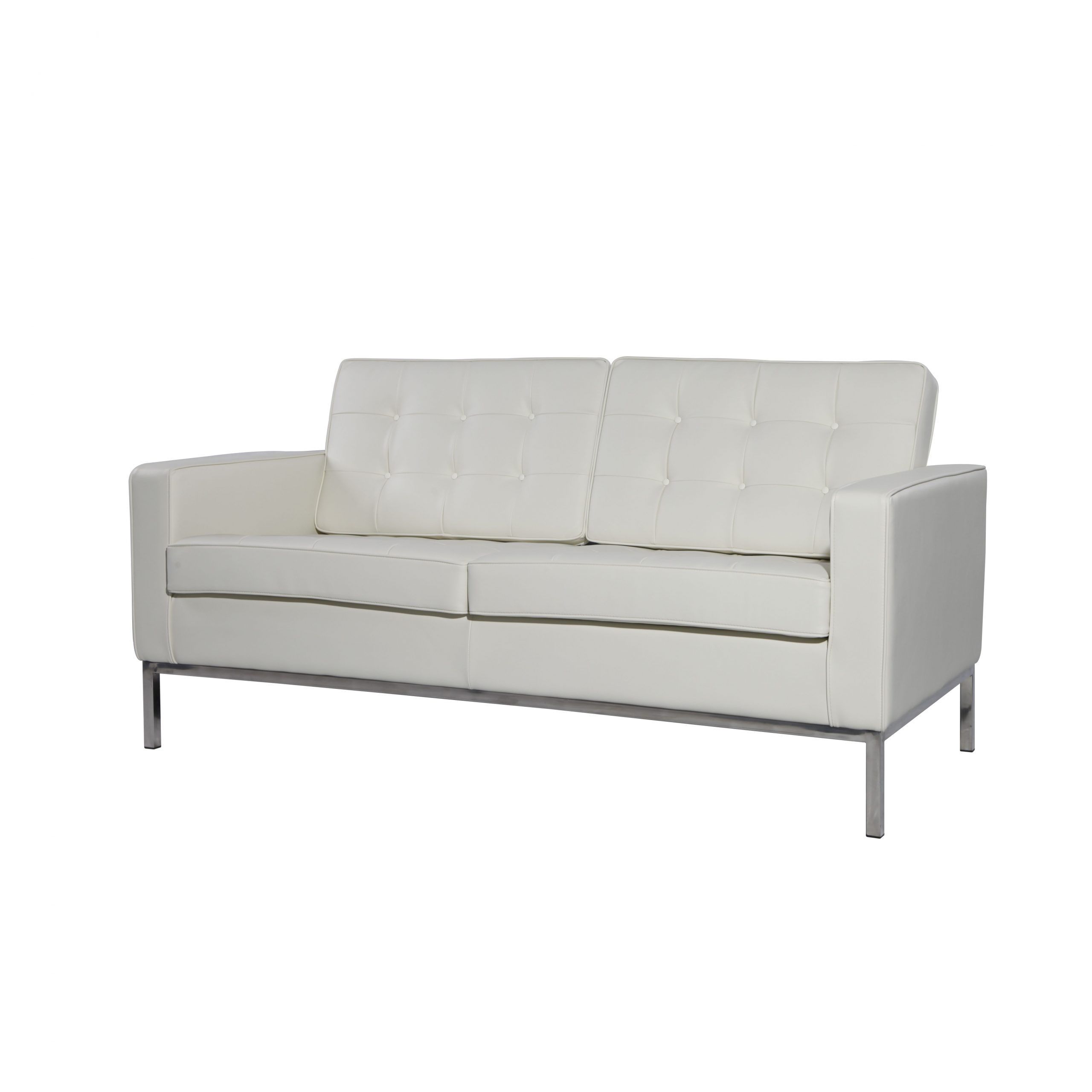 This Classic Replica Florence Knoll 2 Seater Sofa – White With Regard To Florence Leather Sofas (View 10 of 15)