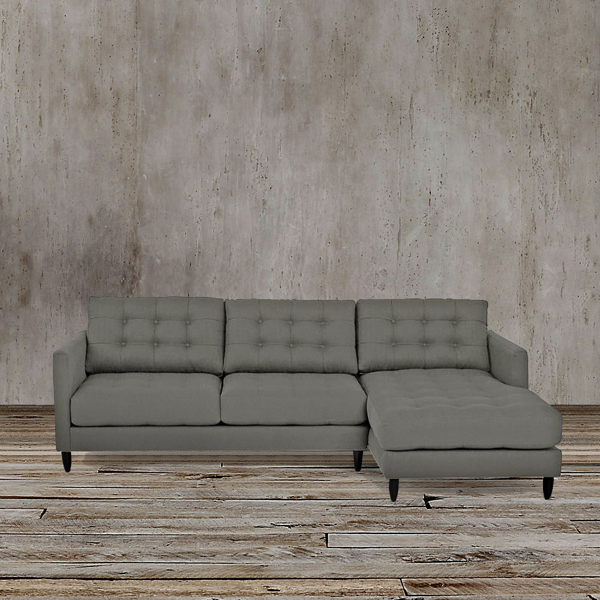 This Sleek And Functional Gray Left Arm Facing Sectional Inside Florence Mid Century Modern Left Sectional Sofas (View 4 of 15)
