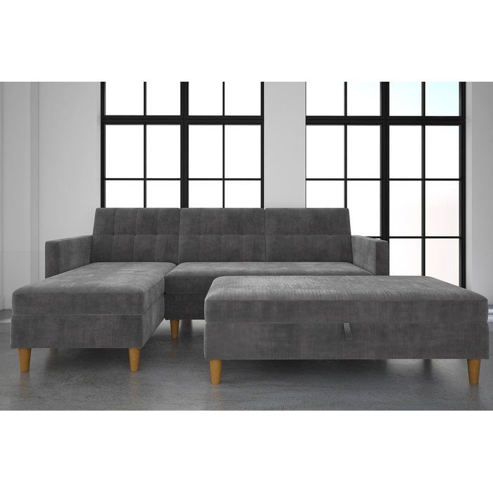 This Stigall Futon Storage Reversible Sleeper Sectional Is Intended For Copenhagen Reversible Small Space Sectional Sofas With Storage (View 12 of 15)