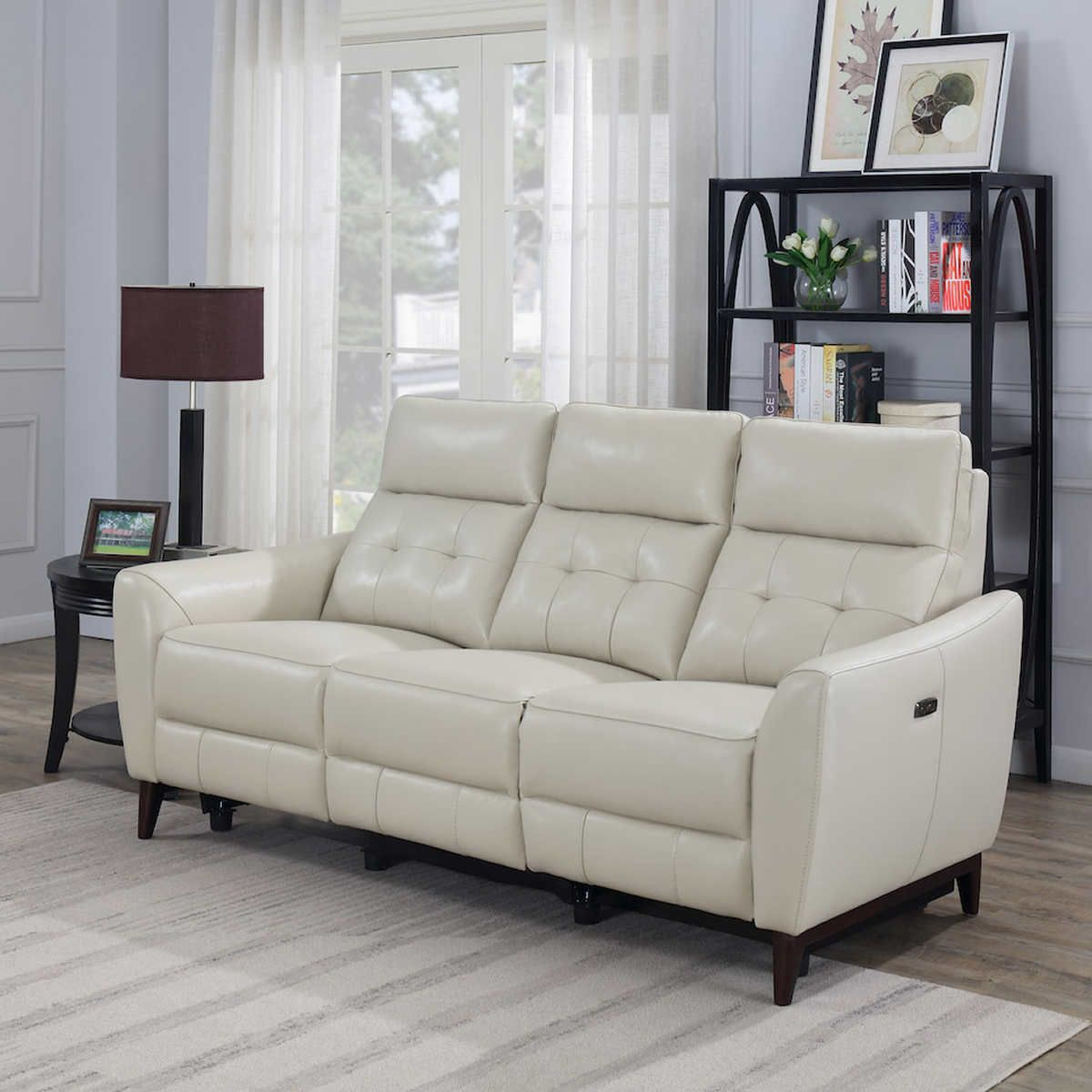 Timmons Leather Power Reclining Sofa With Power Headrest Regarding Nolan Leather Power Reclining Sofas (View 15 of 15)