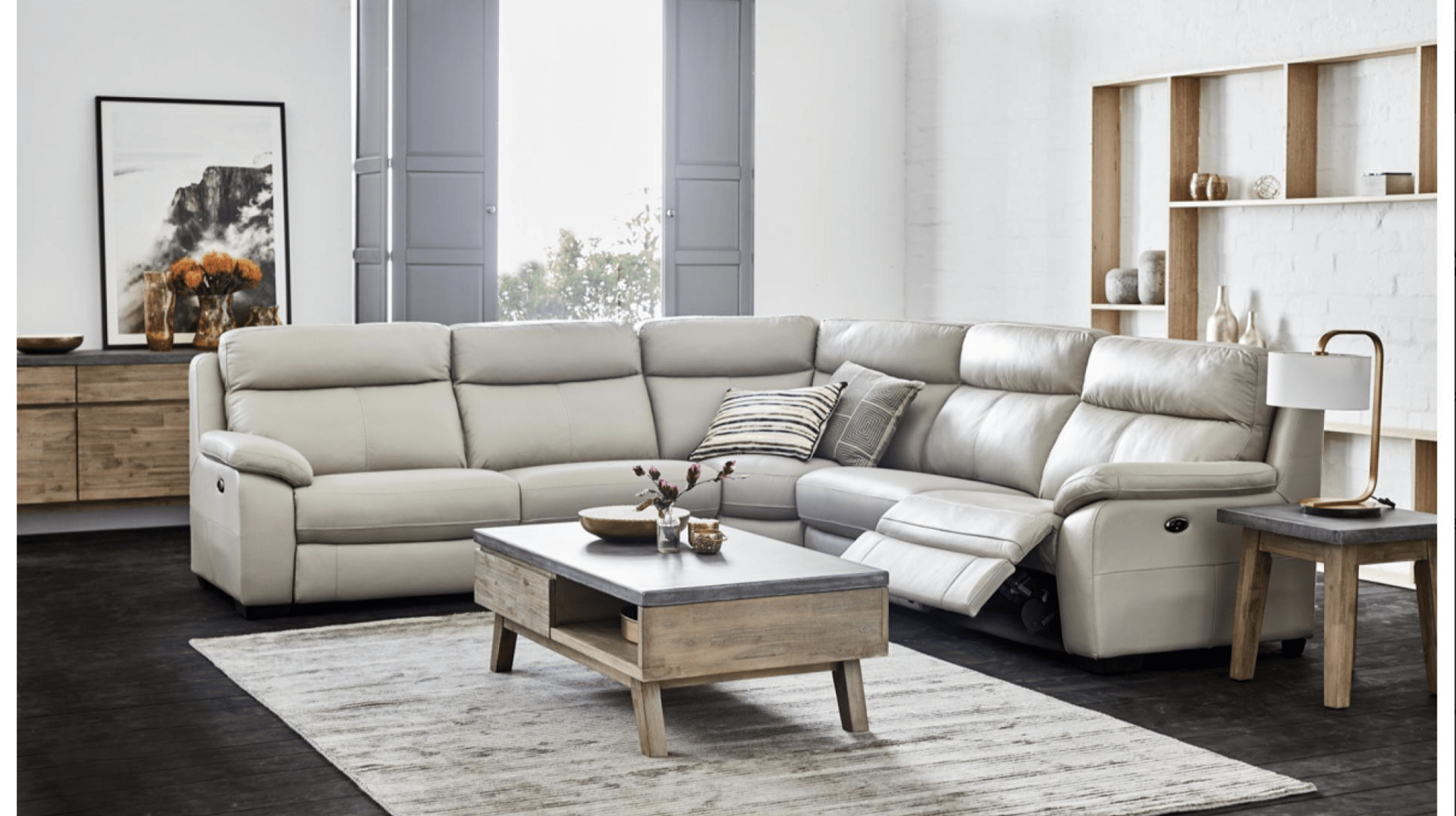 Titan Corner Suite – Corrimal Lounges Within Titan Leather Power Reclining Sofas (View 5 of 15)