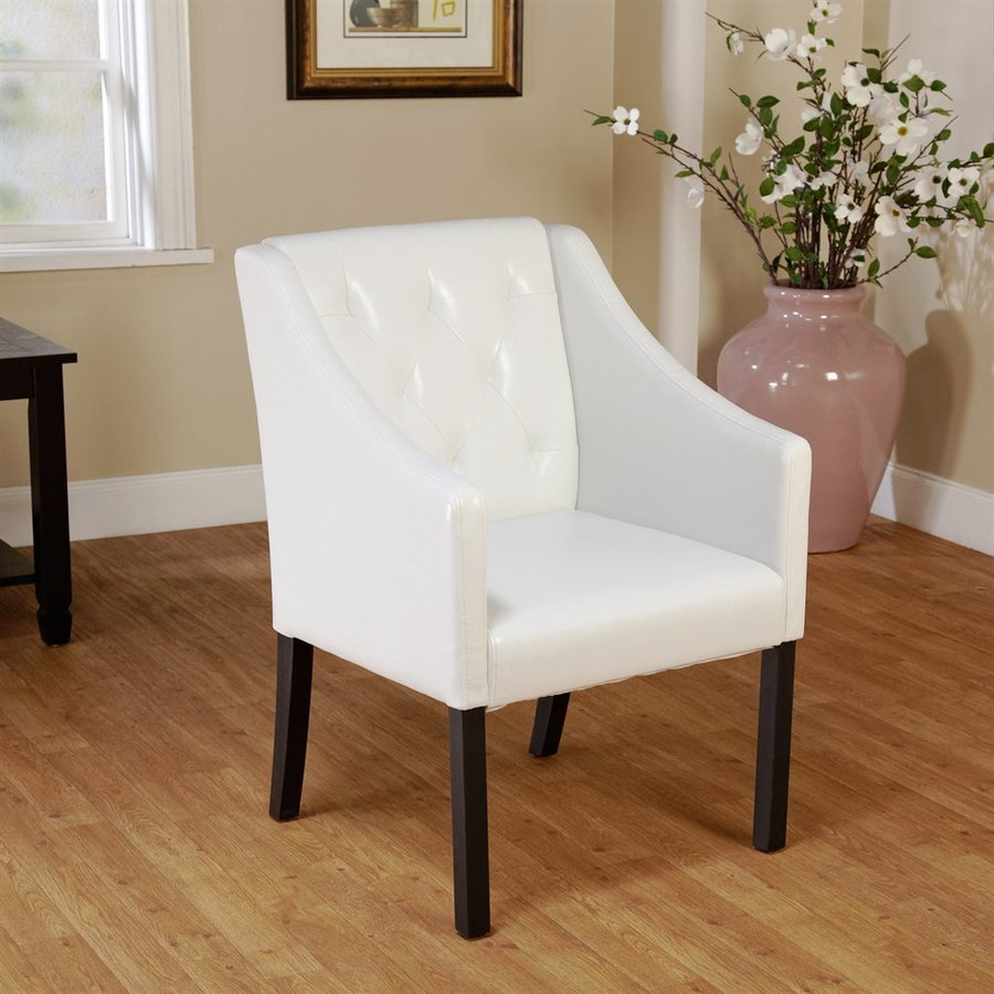 Tms Furniture Casual White Faux Leather Accent Chair At In Casual Sofas And Chairs (View 8 of 15)