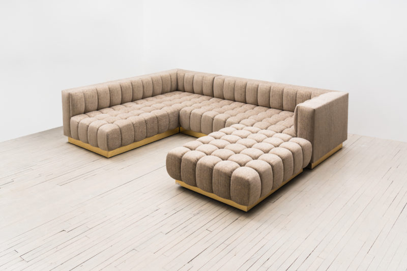 Todd Merrill Custom Original, Box Back Tufted Sofa Inside Custom Made Sectional Sofas (View 2 of 15)