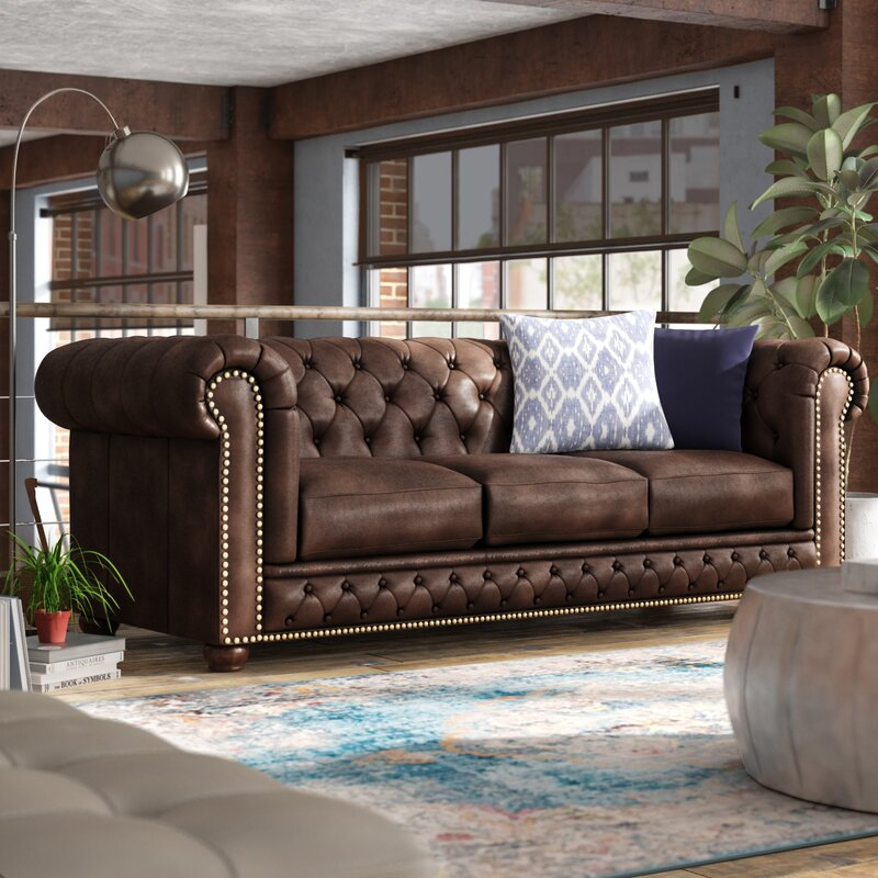 Trent Austin Design Worcester Leather Chesterfield Sofa In Chesterfield Sofas And Chairs (View 3 of 15)
