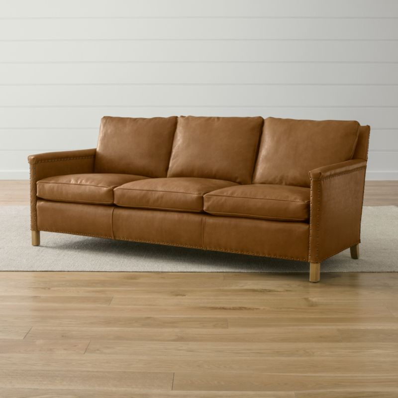 """Trevor Leather 81"""" Sofa 