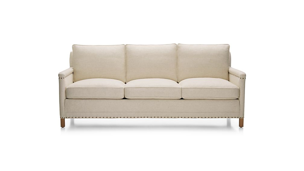 Trevor Oatmeal Sofa Gibson: Oatmeal | Crate And Barrel Inside Trevor Sofas (View 15 of 15)