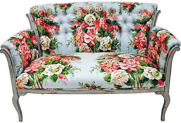 Tufted Chintz Settee   Tufted Furniture, Furniture With Chintz Fabric Sofas (View 3 of 15)