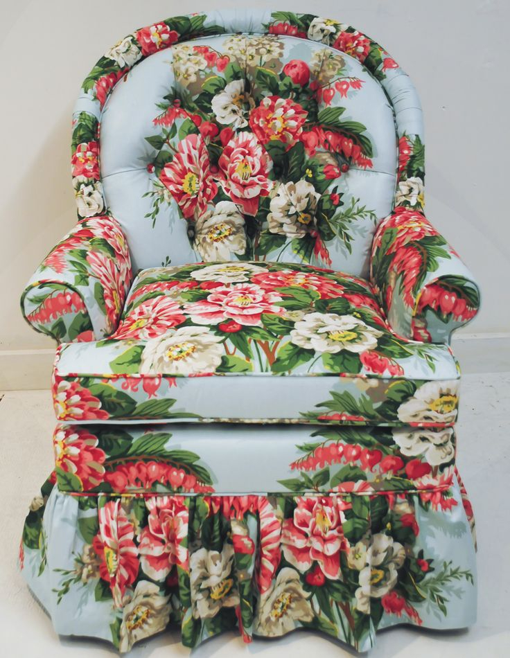 Tufted Floral Chair   Decor, Vintage Interiors, Eclectic Home For Chintz Fabric Sofas (View 9 of 15)