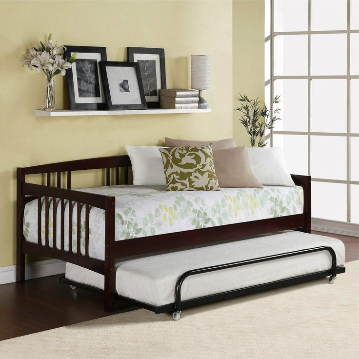 Twin Day Bed Sofa Bed Combo Guest Room Furniture Trundle Within Twin Nancy Sectional Sofa Beds With Storage (View 1 of 15)