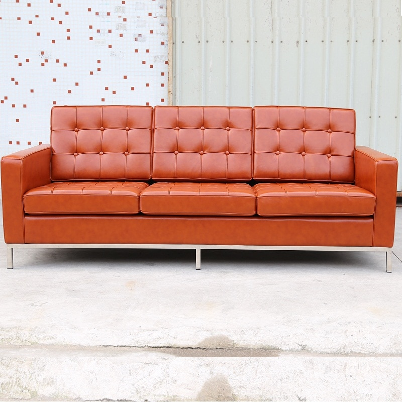 U Best Leather Arm Metal Leg Florence Knoll Replica Throughout Florence Knoll Living Room Sofas (View 8 of 15)