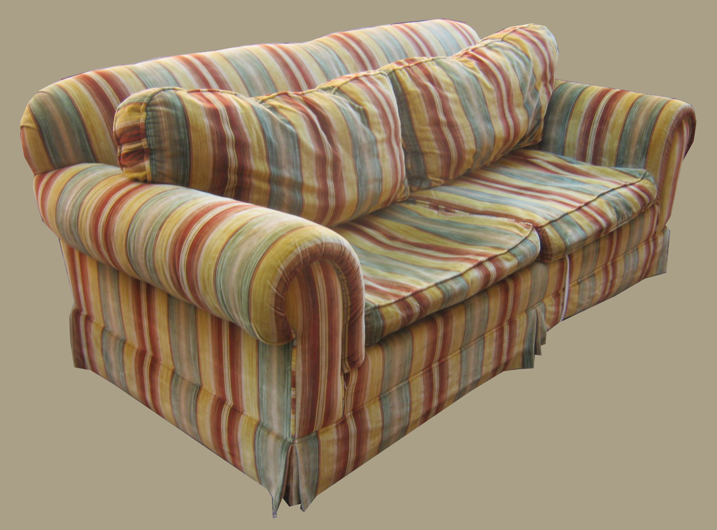 Uhuru Furniture & Collectibles: Retro Sleeper Sofa In With Striped Sofas And Chairs (View 13 of 15)