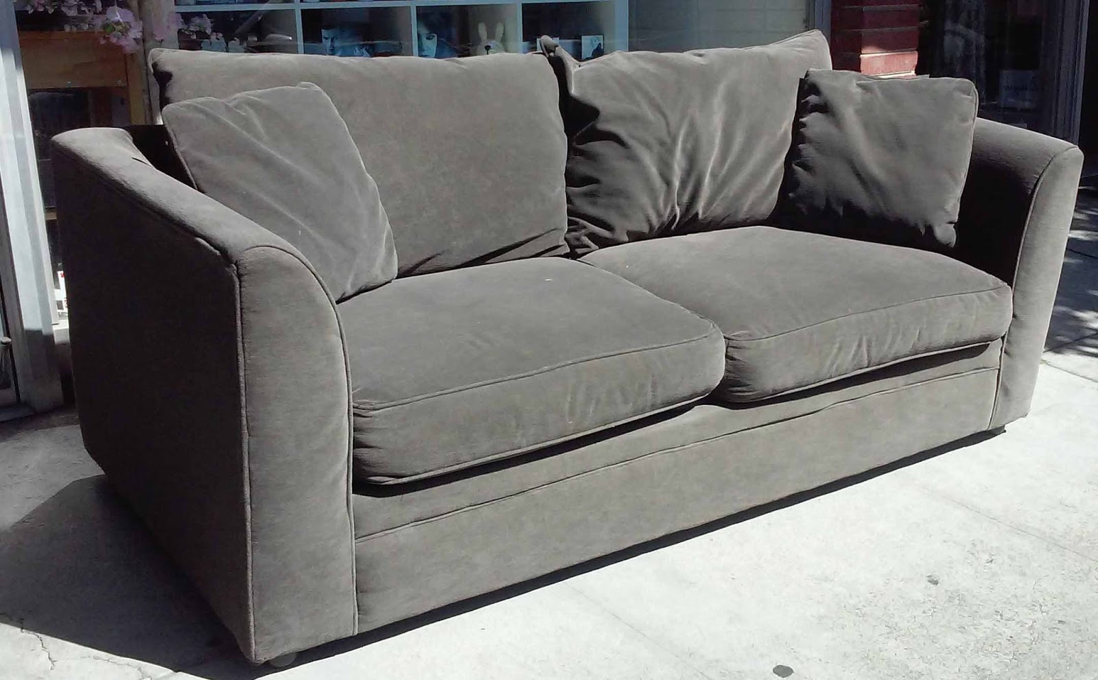 Uhuru Furniture & Collectibles: Sold Sealy Charcoal Grey For Charcoal Grey Sofas (View 8 of 15)
