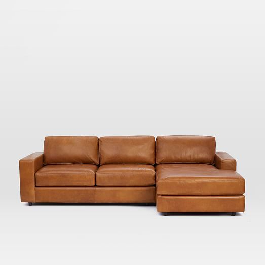 Urban Leather 2 Piece Chaise Sectional | Cheap Patio With Regard To 2Pc Luxurious And Plush Corduroy Sectional Sofas Brown (View 15 of 15)
