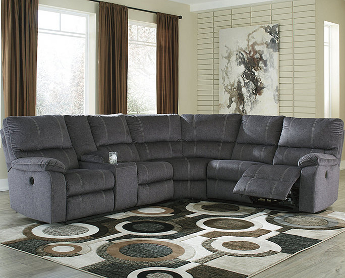 Urbino 3 Piece Reclining Sectional With Power   Buen Hogar Intended For 3Pc Polyfiber Sectional Sofas (View 10 of 15)