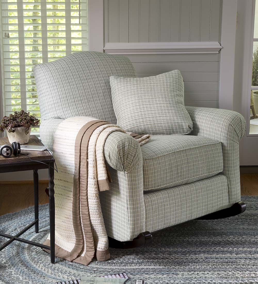 Usa Made Bedford Upholstered Cottage Rocker | Country For Country Cottage Sofas And Chairs (View 2 of 15)