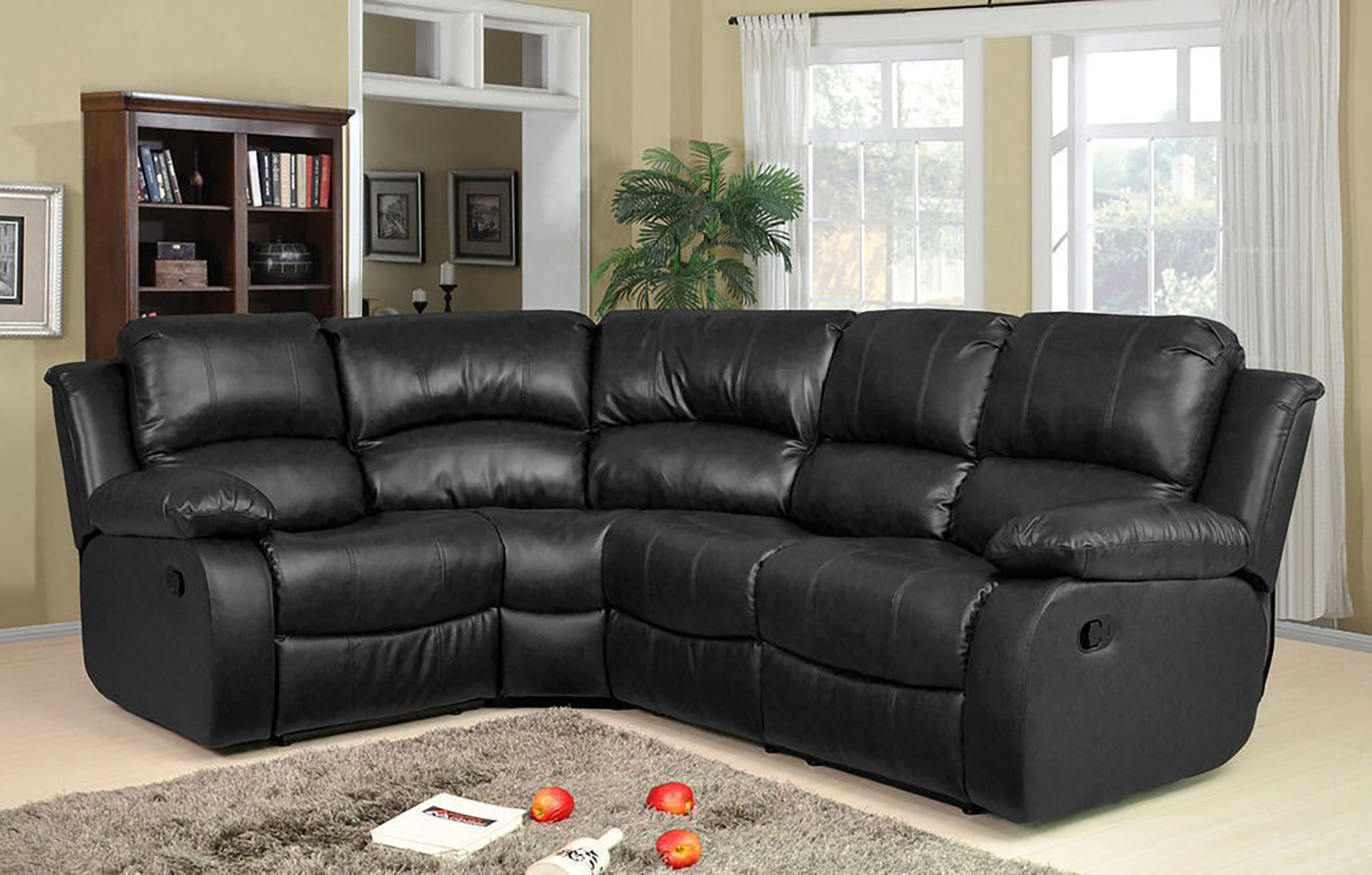 Valencia 1C2 Bonded Leather Recliner Corner Sofa Suite Intended For Leather Corner Sofas (View 13 of 15)