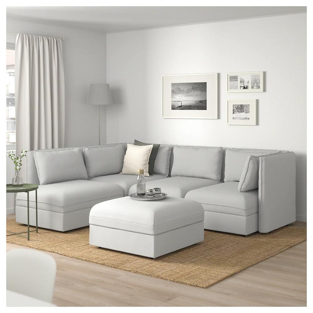 Vallentuna Modular Corner Sofa, 4 Seat, With Storage With Modular Corner Sofas (View 5 of 15)