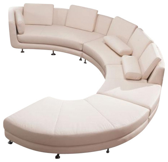 Vig  A94 Divani Casa Contemporary Leather Curved Shaped Pertaining To C Shaped Sofas (View 1 of 15)