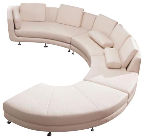 Vig  A94 Divani Casa Contemporary Leather Curved Shaped Regarding C Shaped Sofas (View 1 of 15)