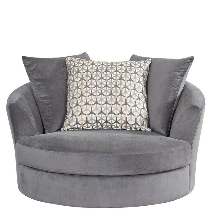 Villela Swivel Barrel Chair | Barrel Chair, Grey Swivel Within Round Swivel Sofa Chairs (View 15 of 15)
