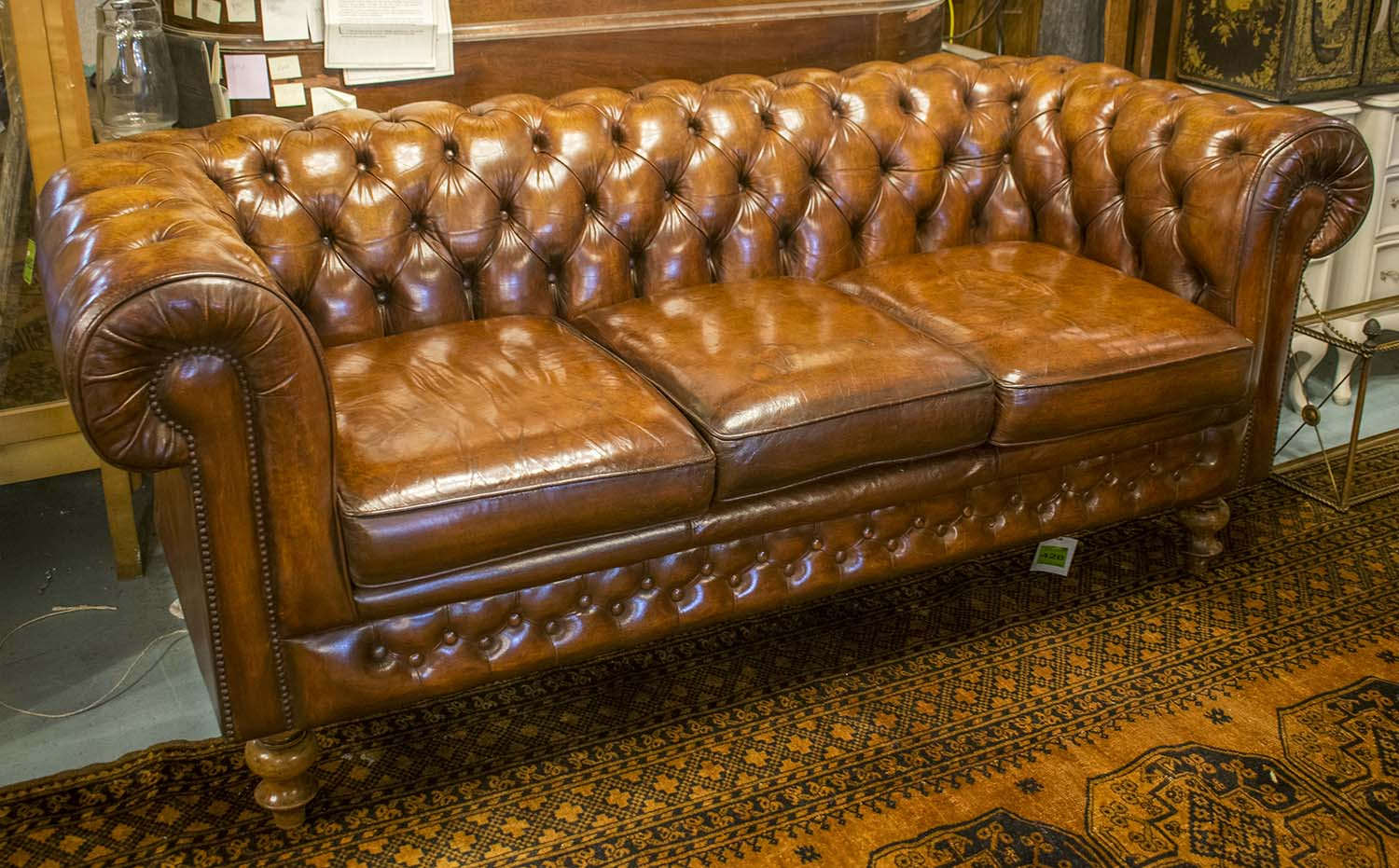 Vintage Chesterfield Sofa, Traditional Design Deep Intended For Vintage Chesterfield Sofas (View 7 of 15)