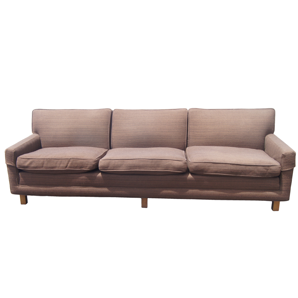 Vintage Mid Century Modern Down Filled Sofa   Ebay With Down Filled Sofas (View 8 of 15)