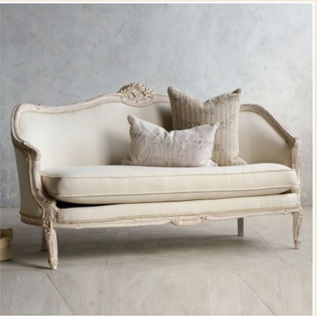 Vintage Pink White Oval Canape In Louis Xv Style French Regarding French Seamed Sectional Sofas Oblong Mustard (View 6 of 15)