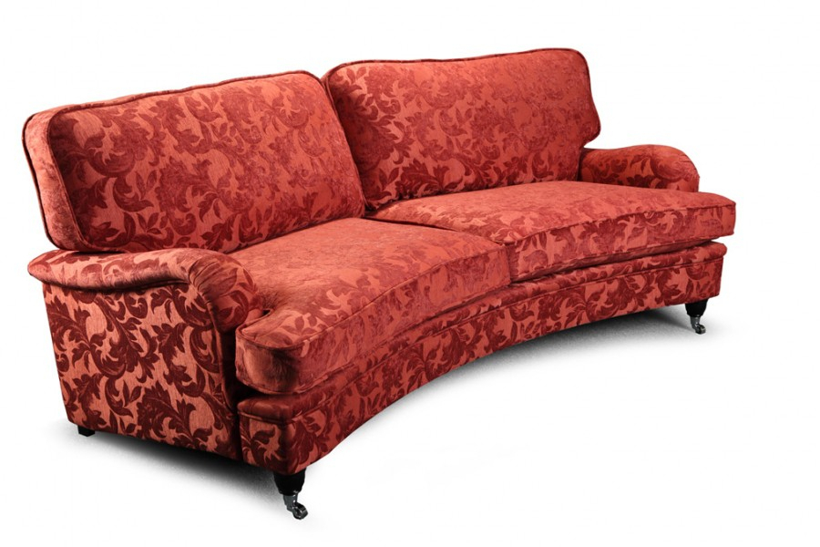 Vintage Sofa Company Hawksworth 4 Seater Curved Sofa Intended For 4 Seater Sofas (View 7 of 15)