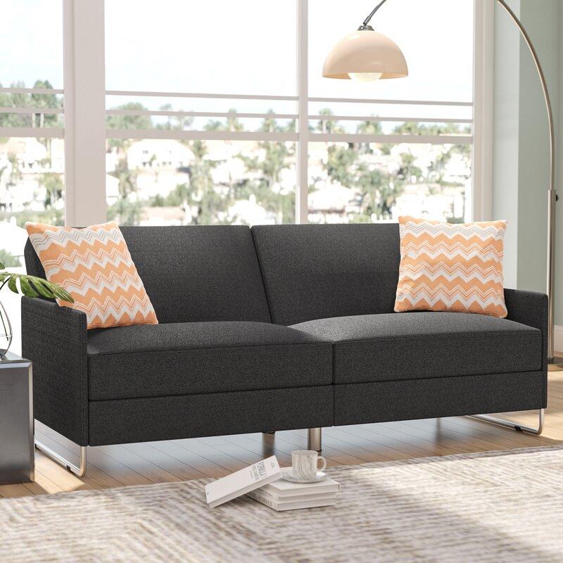 Wade Logan® Callion Convertible Sofa & Reviews Throughout Convertible Sofas (View 8 of 15)